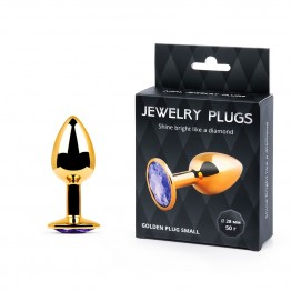 GOLDEN PLUG SMALL (втулка анальная) цвет кристалла светло-филетовый, L 72 мм, D 28 мм, вес 50 г арт.
