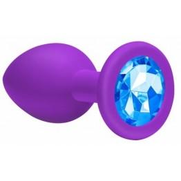 Анальная пробка Emotions Cutie Large Purple light blue crystall 4013-05Lola