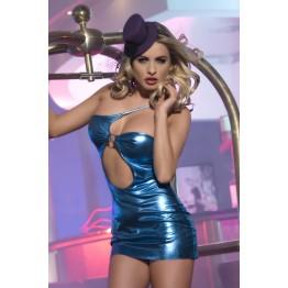 Клубное платье Candy Girl с ассиметричным вырезом, фиолетовое, OS