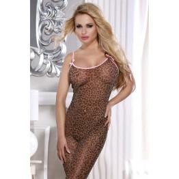 Костюм-сетка Candy Girl, леопардовый, OS