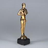 Статуэтка Оскар-самец, покрытие булат, под нанесение, 25 см