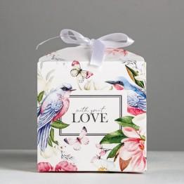 Коробка складная Цветочная, 12 × 12 × 12 см 4967919