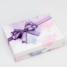 Коробка подарочная Бант, сиреневая, 21 х 15 х 5 см 6895512
