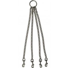 Четыре цепи на кольце с одной стороны и карабинами на другой (дл.350мм)