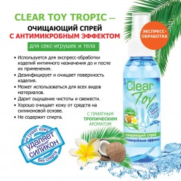 Спрей CLEAR TOY TROPIC очищающий 100 мл арт. LB-14011