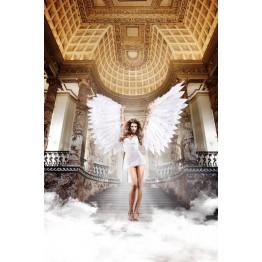 Back in Heaven Платьице белое из тюлевой ткани с косточками и мягкими чашечками