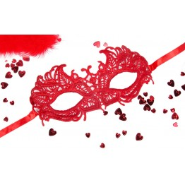 МАСКА АЖУРНАЯ АНДРЕА цвет красный, текстиль арт. EE-20363-3
