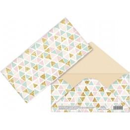 Конверт для денег Праздничные треугольнички, 16,5 х 8 см