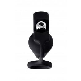 Анальная пробка с кольцом Erotist DISCOVERER, силикон, чёрный, 9 см, Ø3,7 541313
