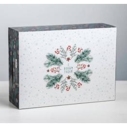 Коробка складная С Новым годом!, 22 × 30 × 10 см