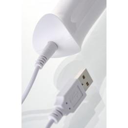Вибромассажер L'EROINA Super massager, 8 режимов вибрации, силикон+ABS пластик, белый, 32 см
