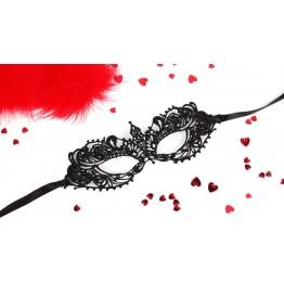 МАСКА АЖУРНАЯ КЭРОЛИН цвет чёрный, текстиль арт. EE-20357