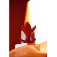 Расширяющая анальная втулка ToDo by Toyfa Flower, силикон, красная, 9 см, Ø 6 см